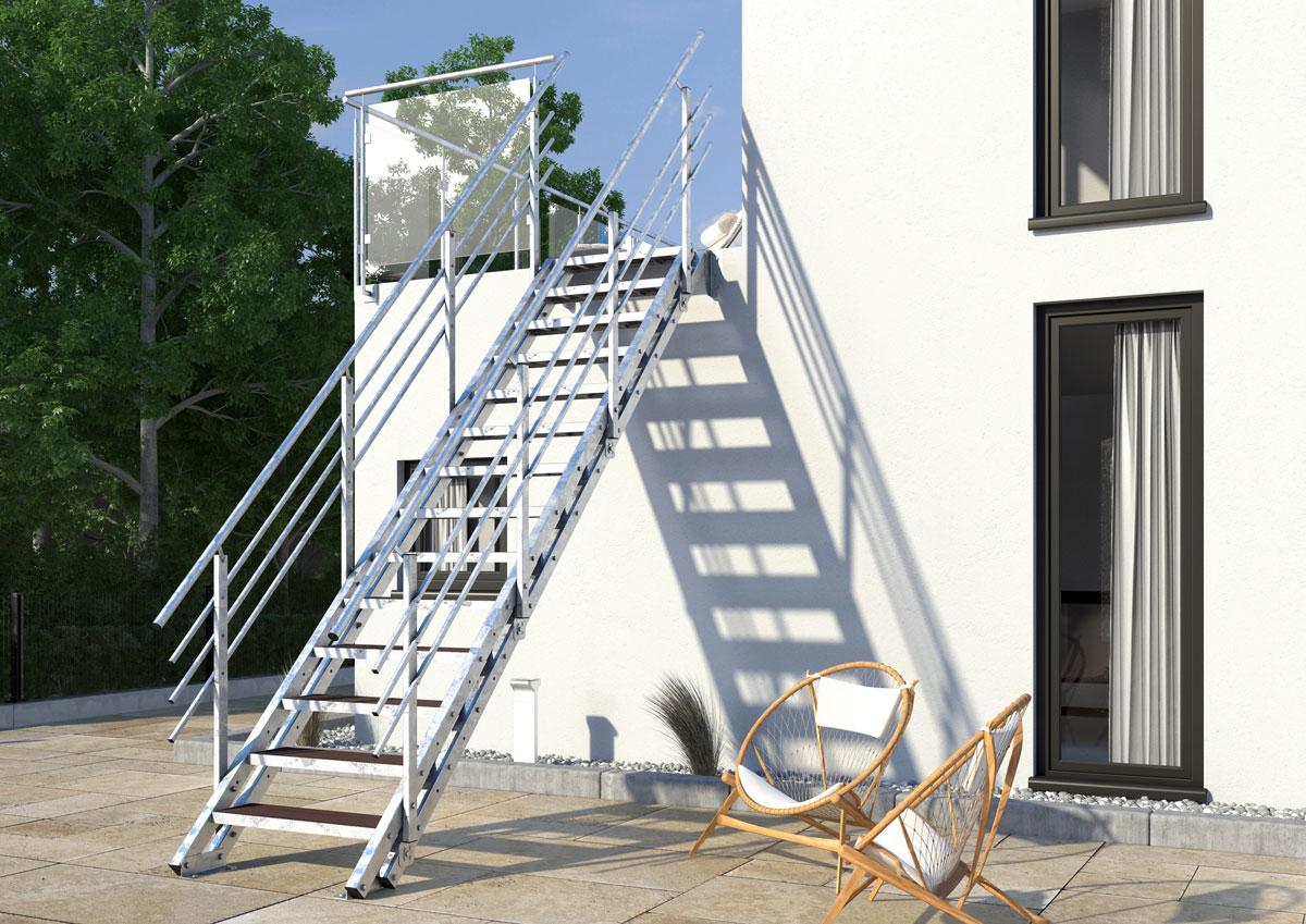 Wpc Stufen aussentreppe york 14 stufen wpc treppen werk