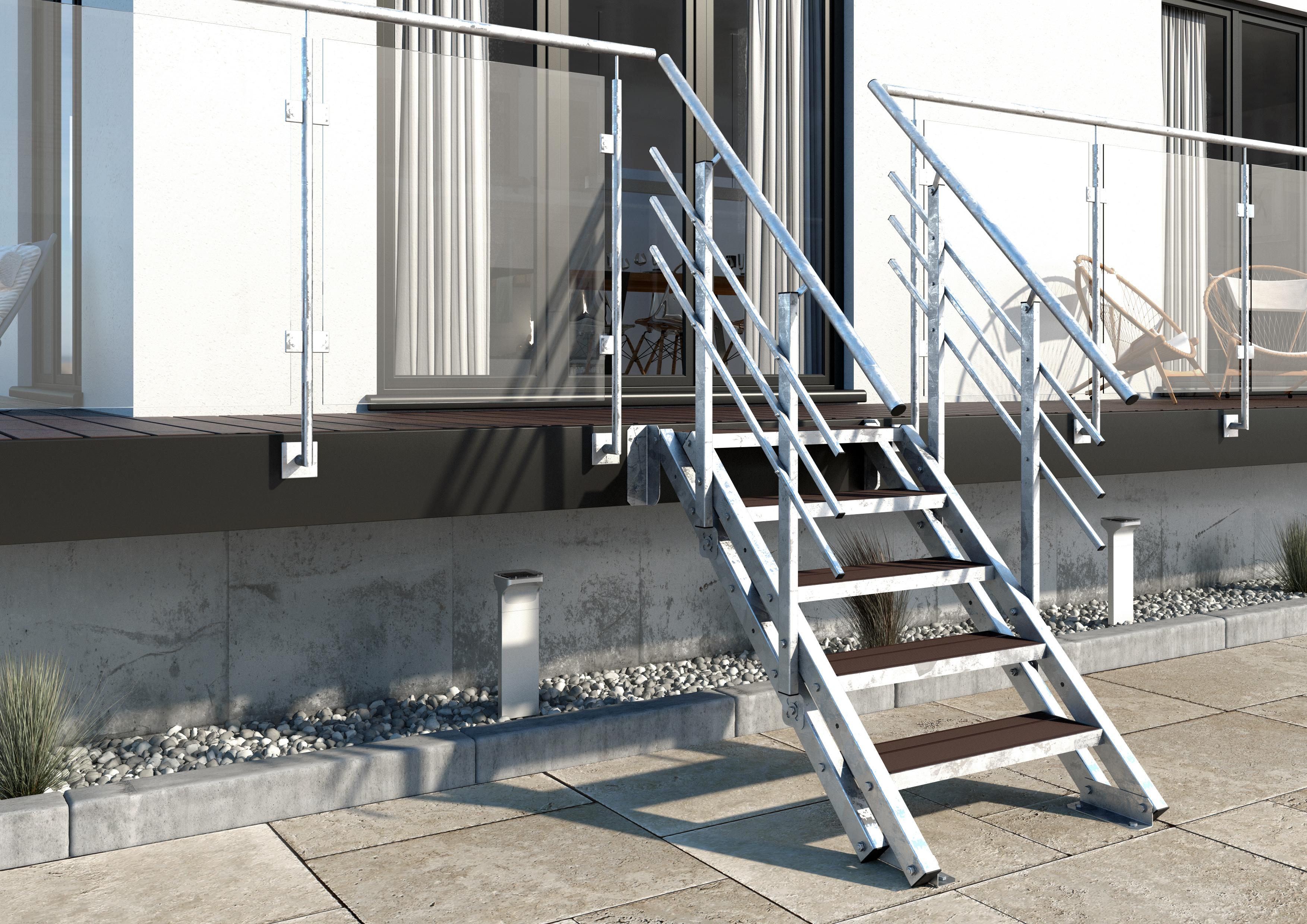 Wpc Stufen aussentreppe york 5 stufen wpc treppen werk