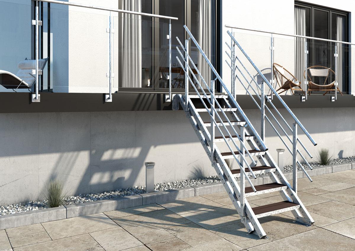 Wpc Stufen aussentreppe york 9 stufen wpc treppen werk