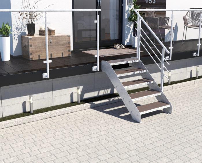Altona I_5 Stufen_WPC_braun_1 Geländer