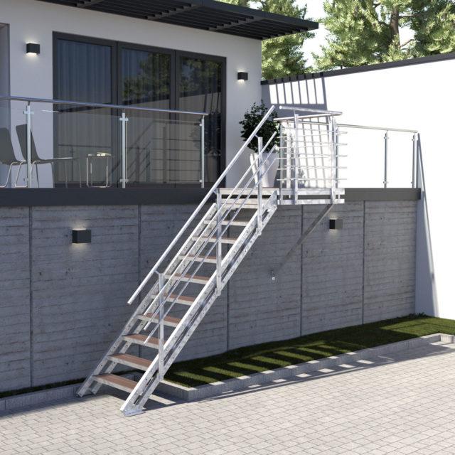 Feuerverzinkte Stahl Außentreppe Im Online Shop Treppen Werk