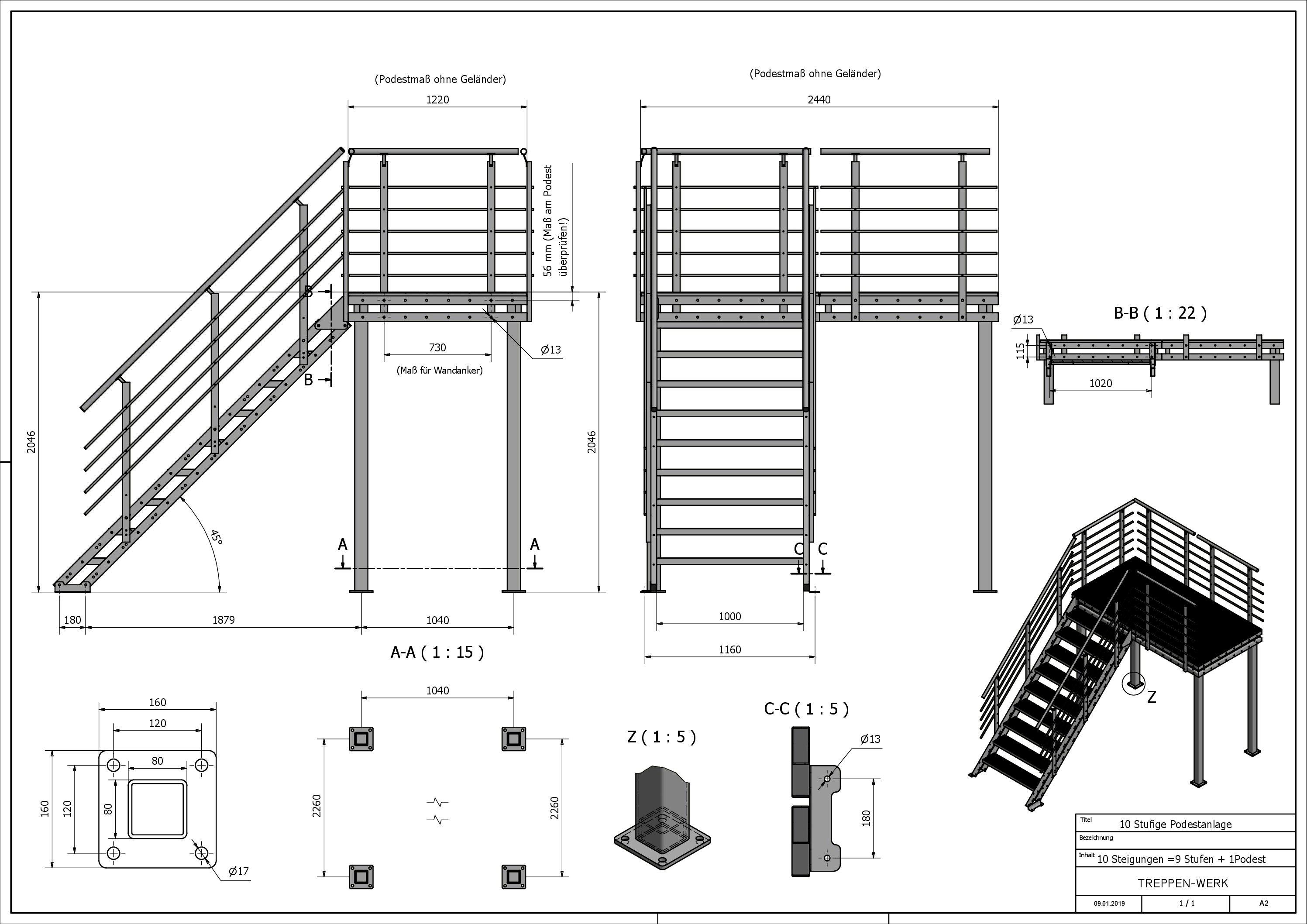 geländerhöhe treppe