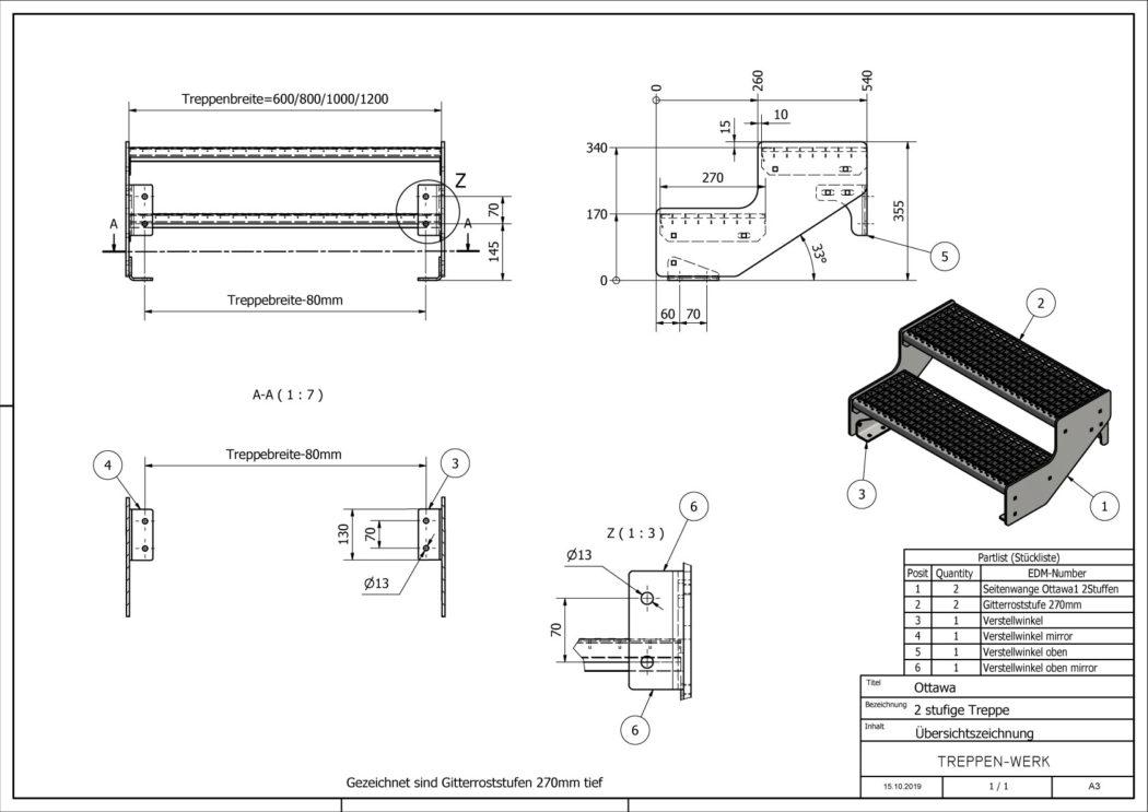 Aussentreppe-Ottawa-2-Stufen-technische-Zeichnung