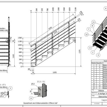 Aussentreppe-Ottawa-8-Stufen-technische-Zeichnung