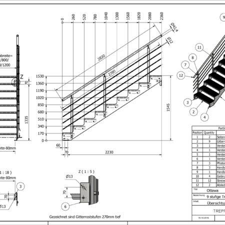 Aussentreppe-Ottawa-9-Stufen-technische-Zeichnung