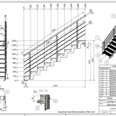 Aussentreppe-Tokio-9-Stufen-technische-Zeichnung