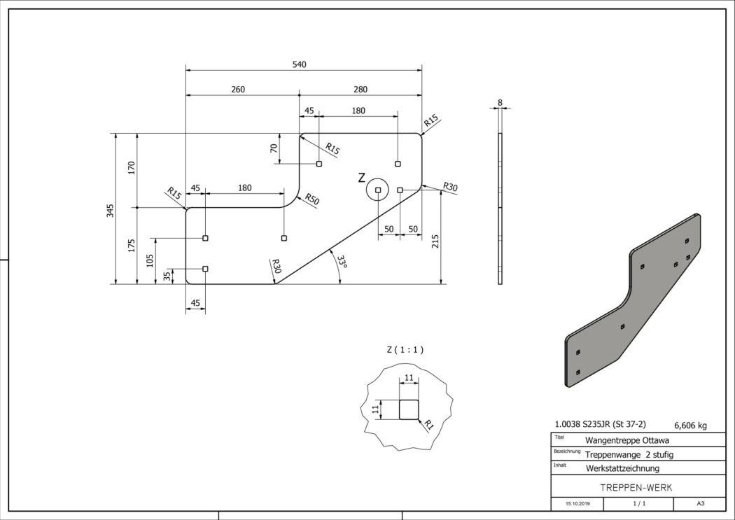 Seitenwange-Aussentreppe-Ottawa-2-Stufen-technische-Zeichnung