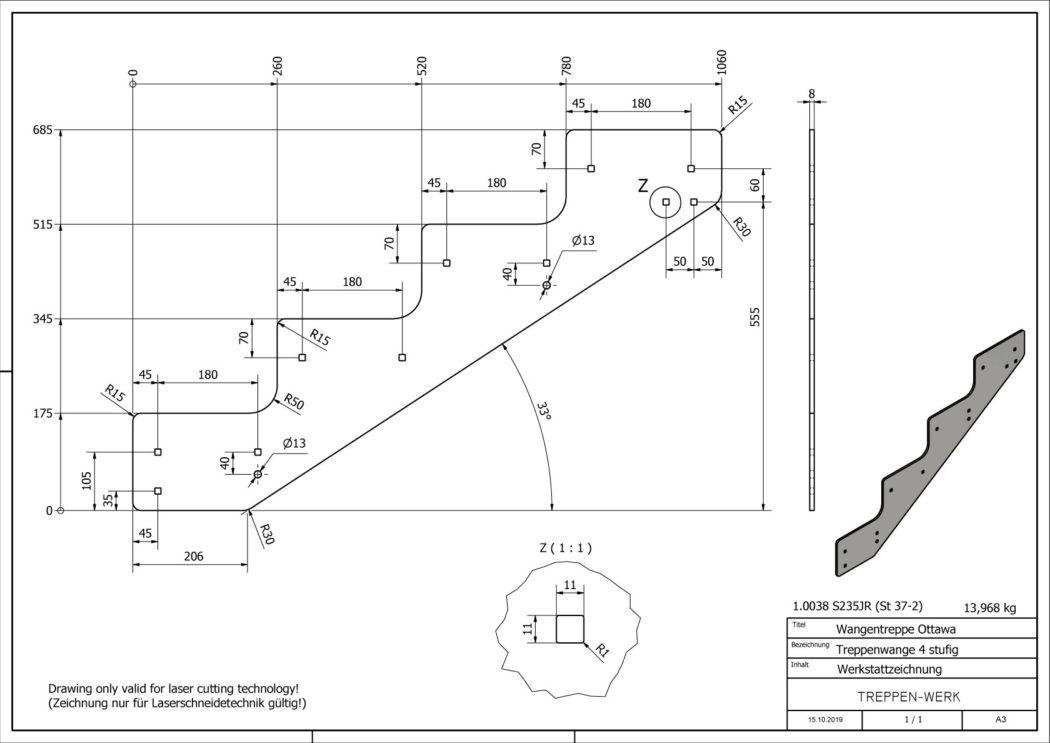Seitenwange-Aussentreppe-Ottawa-4-Stufen-technische-Zeichnung