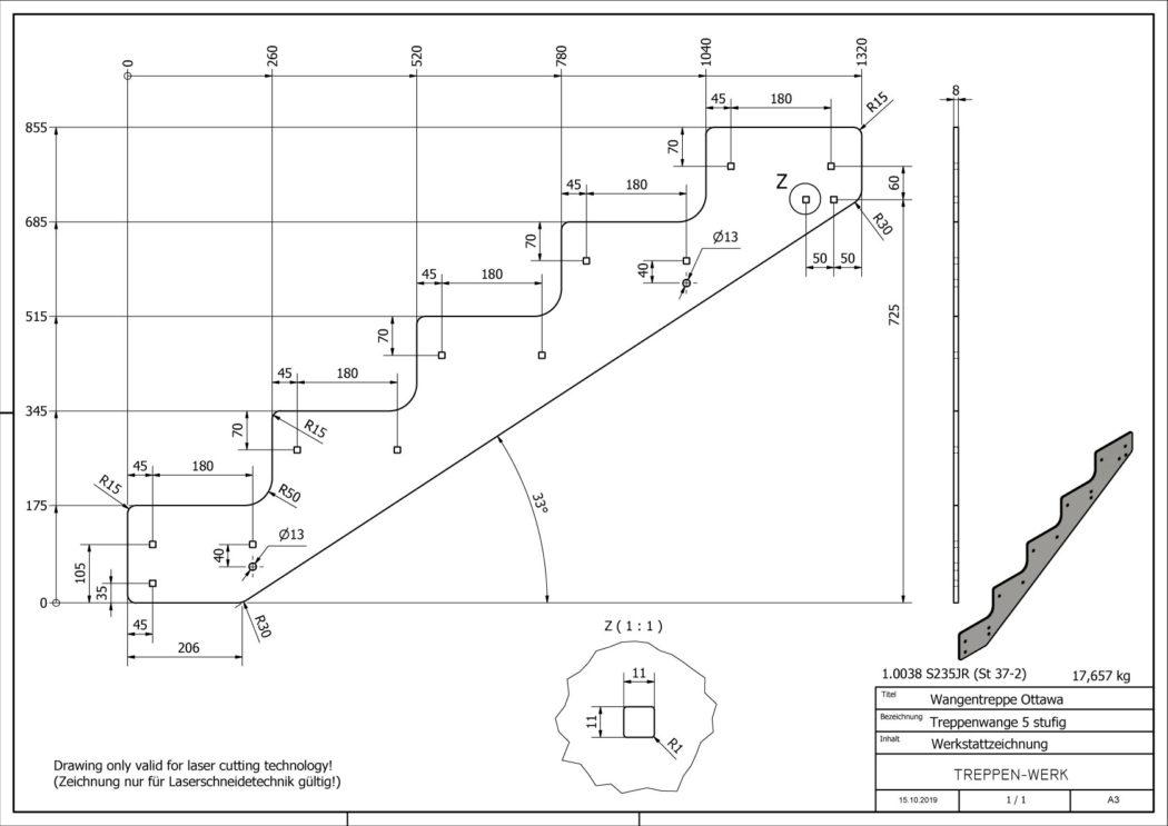Seitenwange-Aussentreppe-Ottawa-5-Stufen-technische-Zeichnung