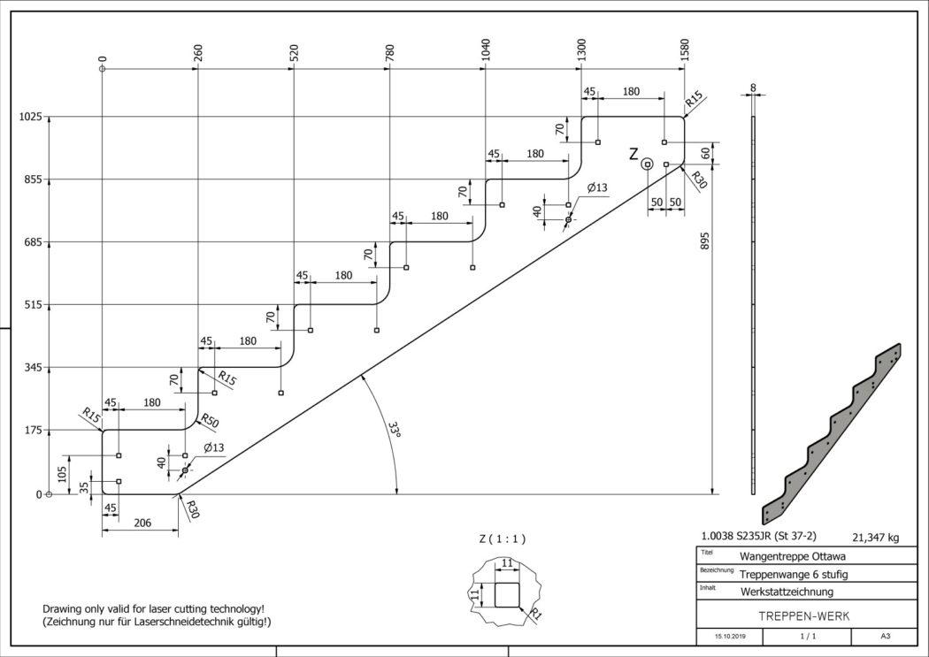 Seitenwange-Aussentreppe-Ottawa-6-Stufen-technische-Zeichnung