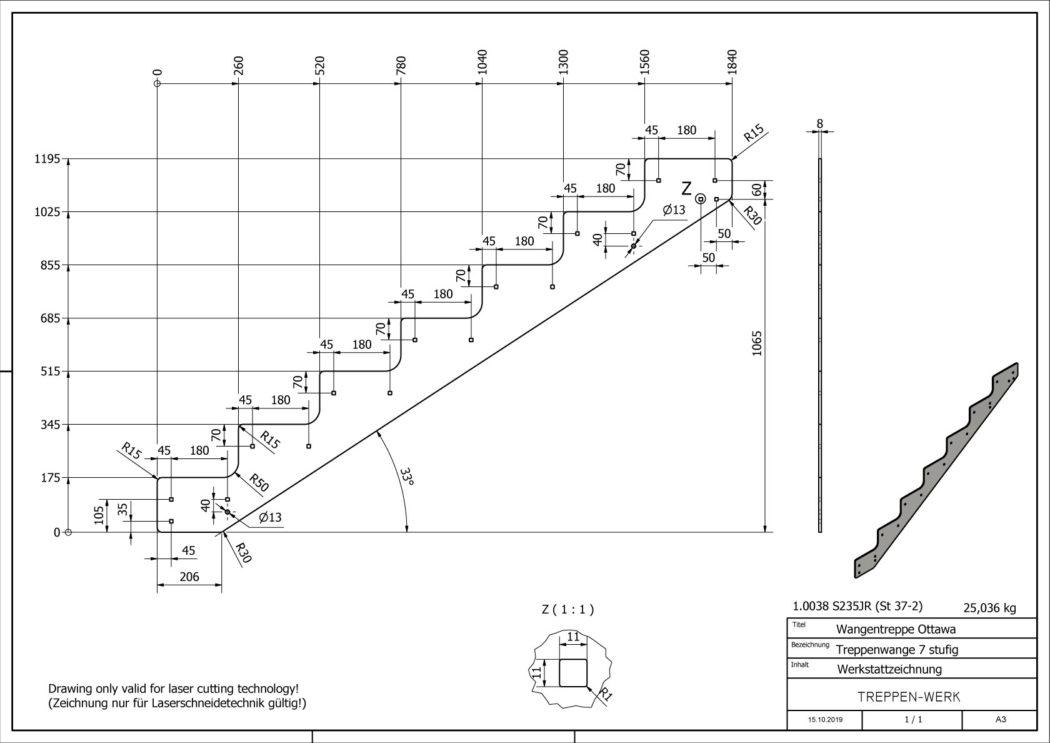 Seitenwange-Aussentreppe-Ottawa-7-Stufen-technische-Zeichnung