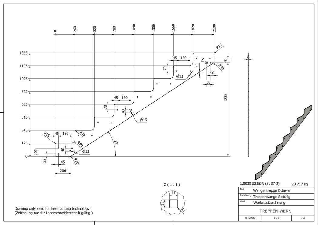 Seitenwange-Aussentreppe-Ottawa-8-Stufen-technische-Zeichnung