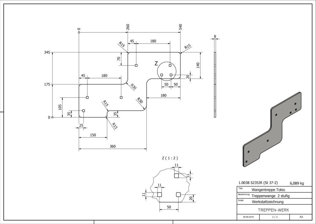 Seitenwange-Aussentreppe-Tokio-2-Stufen-technische-Zeichnung