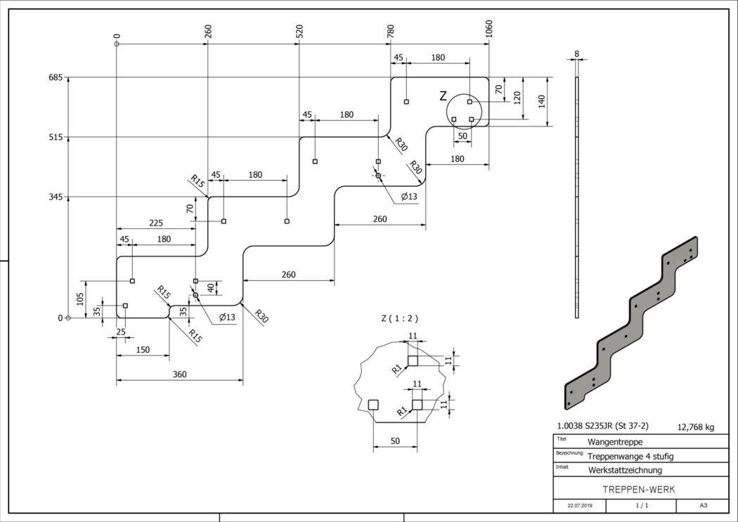 Seitenwange-Aussentreppe-Tokio-4-Stufen-technische-Zeichnung