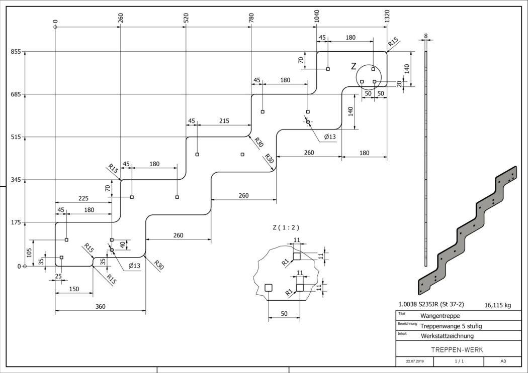 Seitenwange-Aussentreppe-Tokio-5-Stufen-technische-Zeichnung