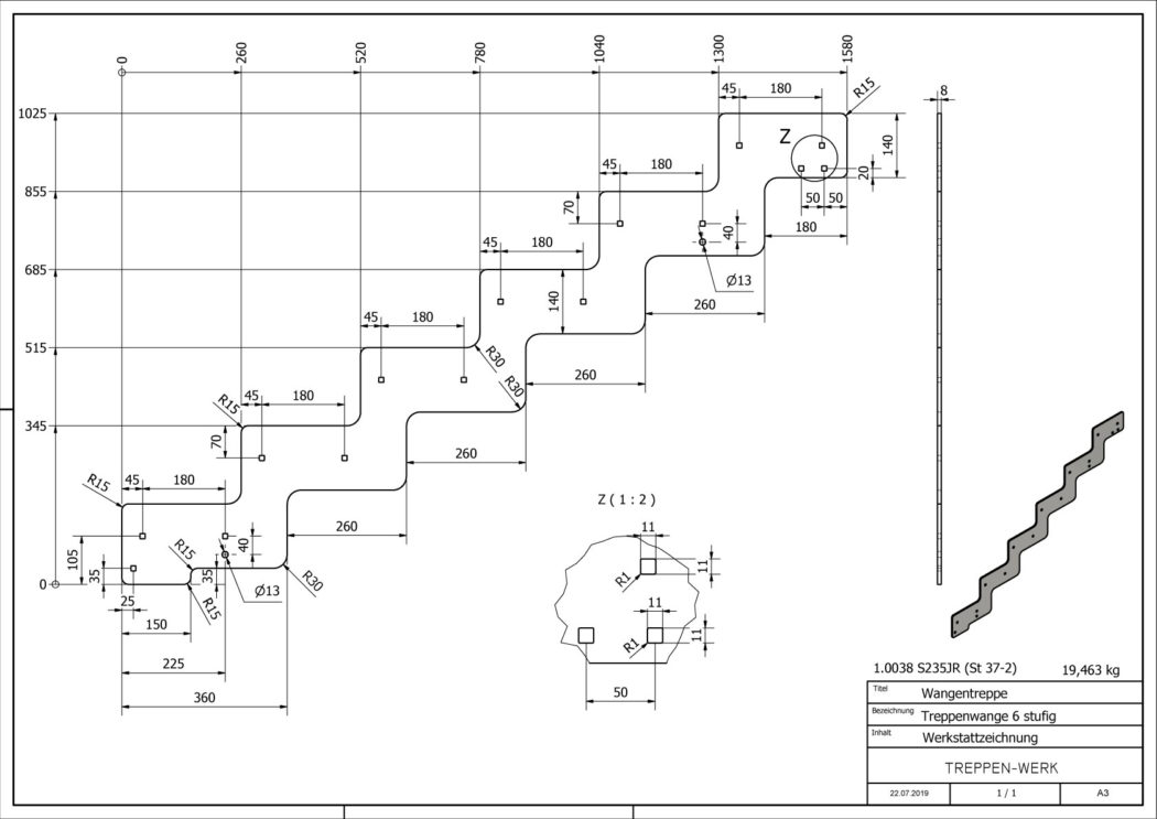 Seitenwange-Aussentreppe-Tokio-6-Stufen-technische-Zeichnung