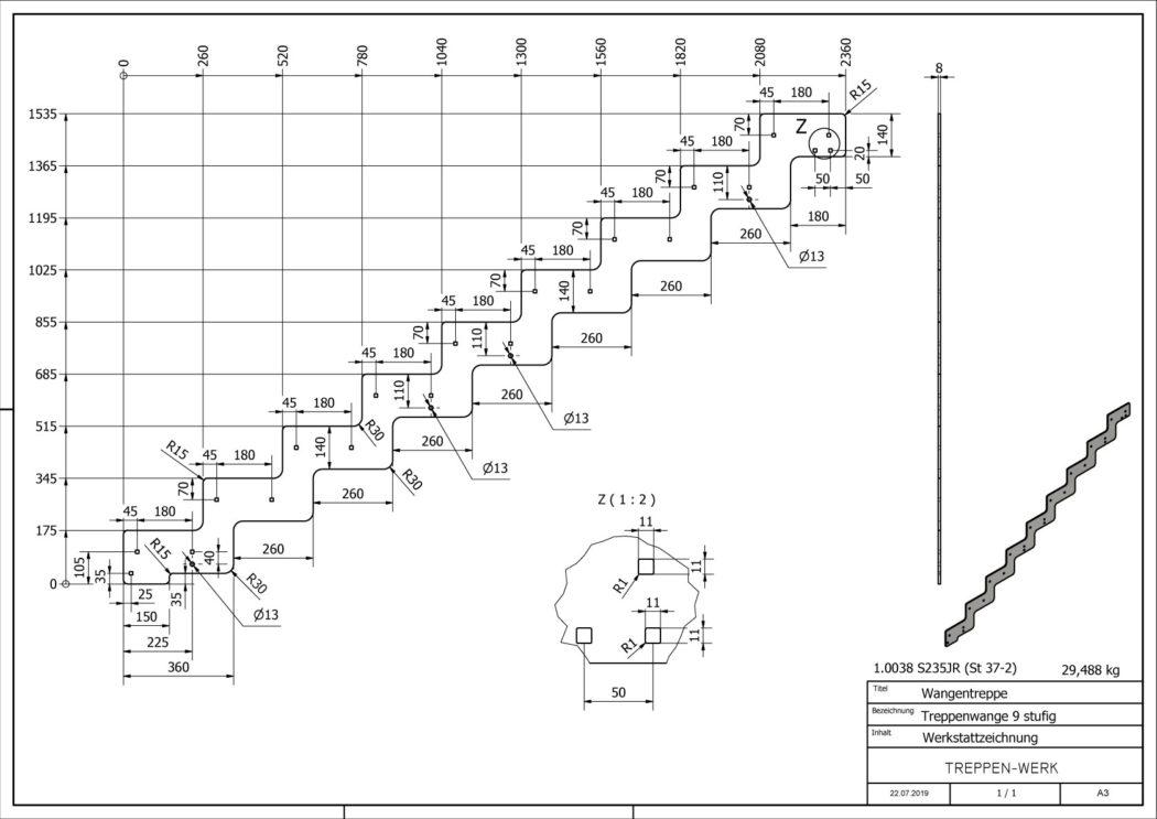 Seitenwange-Aussentreppe-Tokio-9-Stufen-technische-Zeichnung